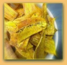 Batata chips assada