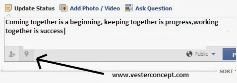 how to add location on facebook