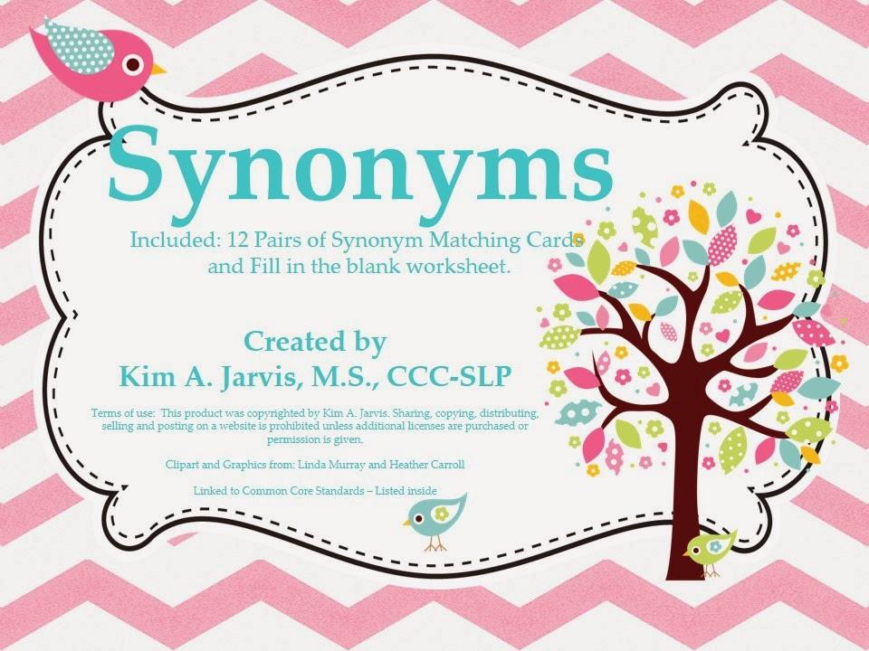 School slp synonym and antonym activities stopboris Gallery