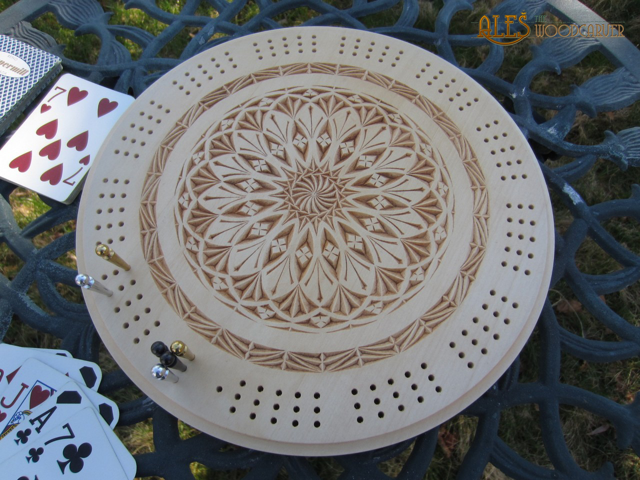 Ales the woodcarver cribbage game anybody