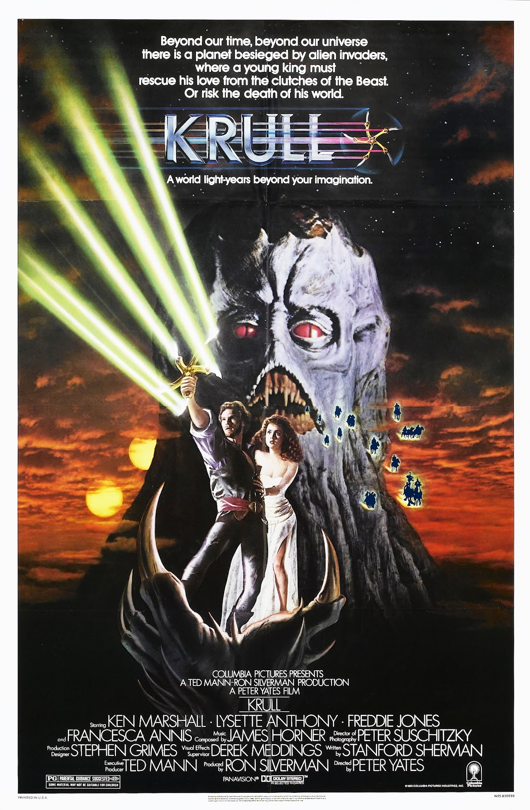 The Geeky Nerfherder: Movie Poster Art: Krull (1983)