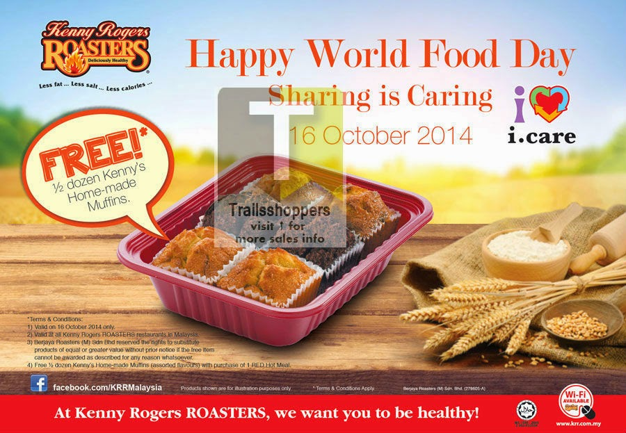 kenny rogers malaysia promo-krr-world-food-day-offer free muffins