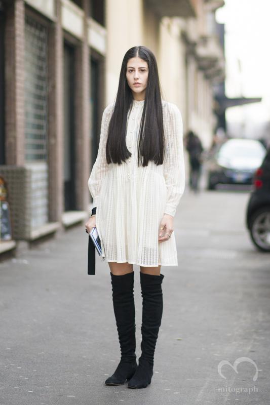 Gilda Ambrosio at Etro 2015-2016 Fall Winter show during Milan Fashion Week MFW