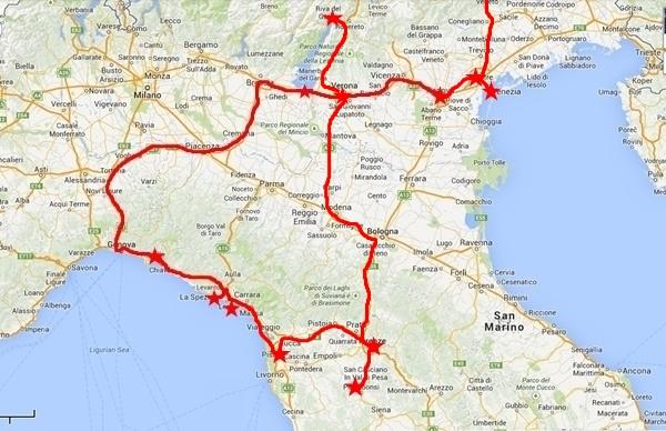 Norditalien Autoreise Rundreise