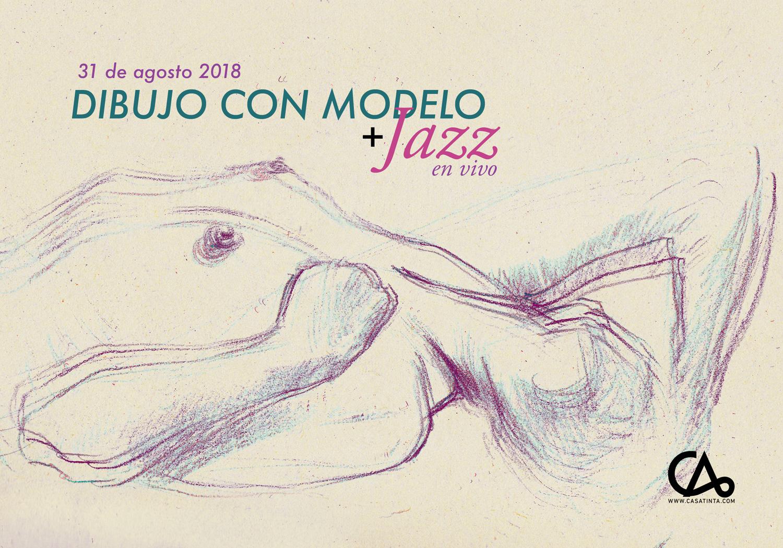 DIBUJO CON MODELO Y JAZZ // 31 de ago