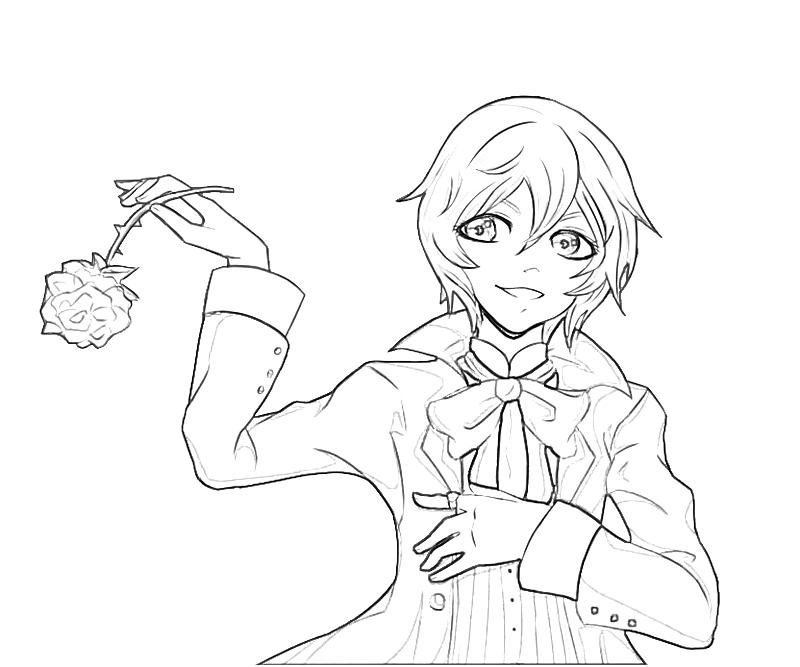 printable alois trancy character_coloring pages - Black Butler Chibi Coloring Pages
