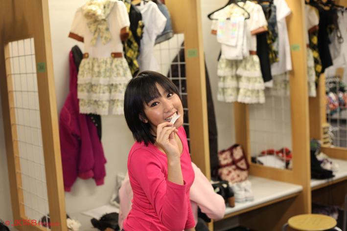 Dhike JKT48 di ruang ganti tokyo dome