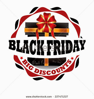 Black Friday - Big discounts, black friday label, black friday sticker