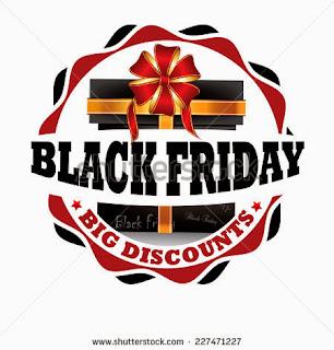 Black Friday - Big discounts, black friday label, black friday sticker