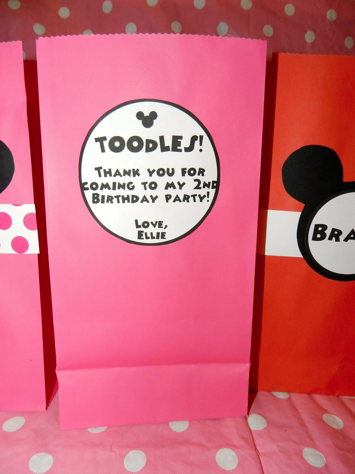 Krispie Treats Inside That Are Shaped As None Other But Minnie Mouse With The Chocolate Bow My Favorite Part Of Goo Bags Is Cute Saying I