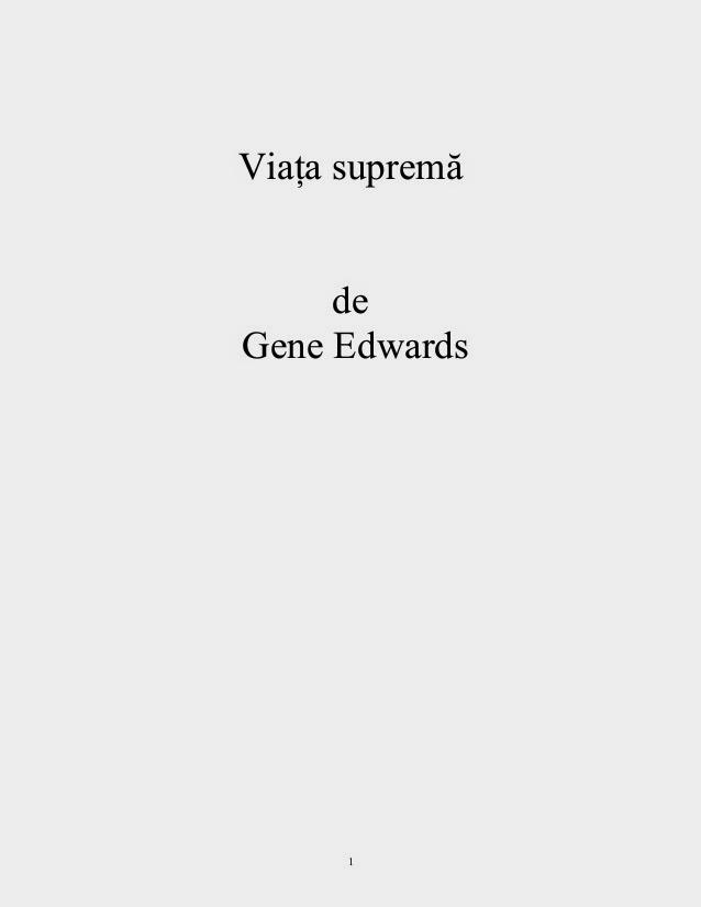 Gene Edwards-Viata Suprema-