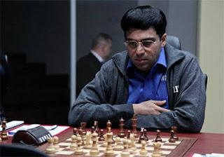 Echecs à Moscou : Le champion du monde en titre Vishy Anand - Photo © Chessbase