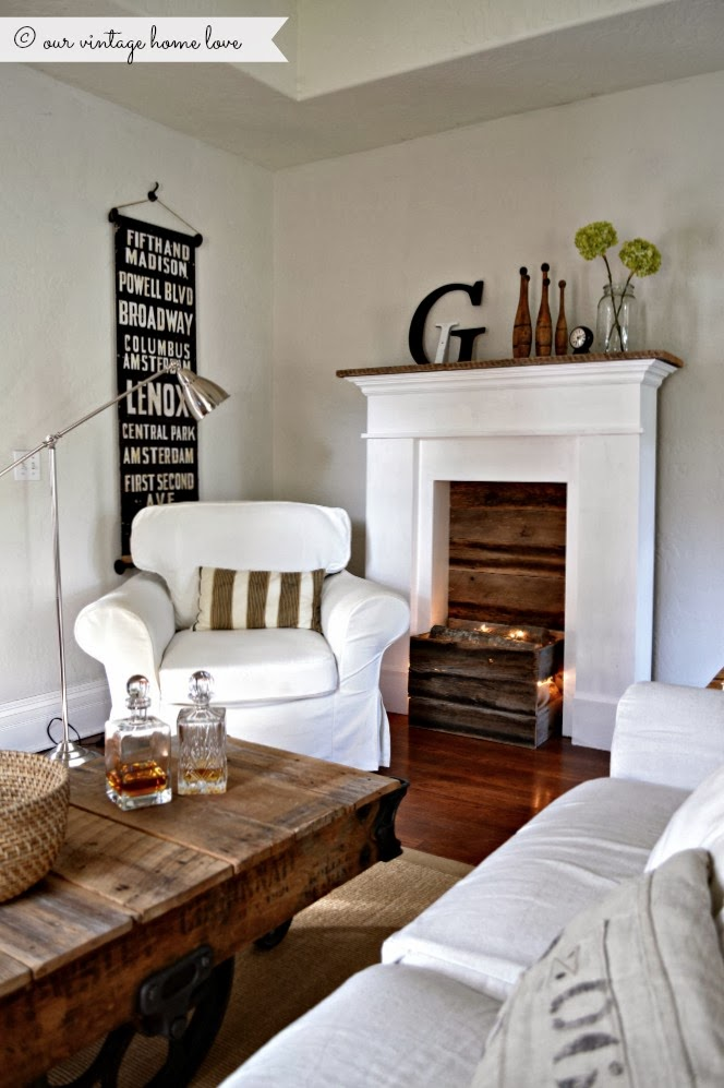 our vintage home faux fireplace