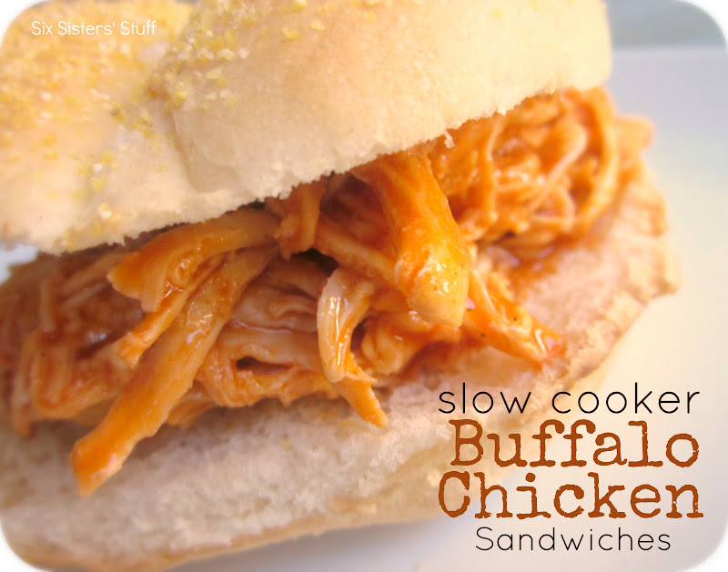 Slow Cooker Buffalo Chicken Sandwiches Recipe | Six Sisters' Stuff