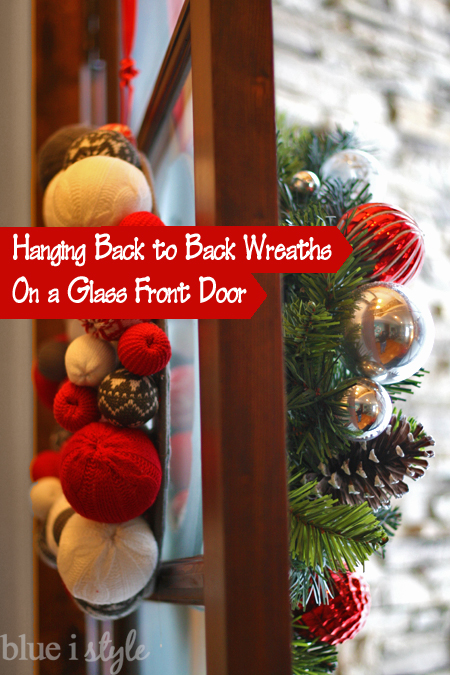 I Purchased Two Of The Sweater Ball Wreaths For The Inside Of The Double  Front Doors, And While At Target I Also Found Some More Traditional Wreaths  With ...