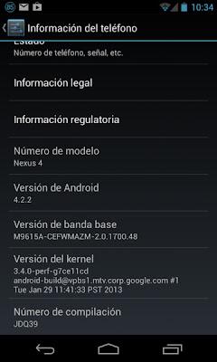 """Android 4.2.2 Jelly Bean no agrega funcionalidades importantes, solo soluciona errores y añade mejoras de rendimiento, en especial en el consumo de la batería del Nexus 7. Entre las novedades de Android 4.2.2 Jelly Bean tenemos: Añadido el """"tiempo restante"""" en las descargas. Activar y desactivar Bluetooth y Wi-Fi solo con mantener presionado su botón en el Quick Settings. Cambio de sonido cuando se carga de forma inalámbrica. Seguridad y """"lista blanca"""" de computadoras añadida. Pero si eres de los que no les gusta esperar, puedes descargar la actualización a Android 4.2.2 desde los servidores de Google e instalarla manualmente."""