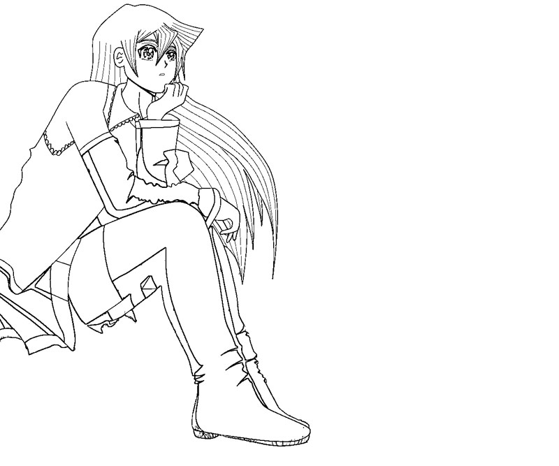 Printable Yu Gi Oh GX - Alexis Rhodes 11 Coloring Page title=