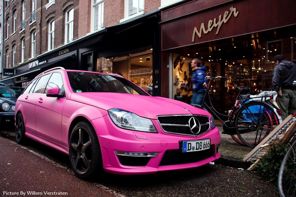 Mercedes benz c63t amg pink benztuning for Pink mercedes benz