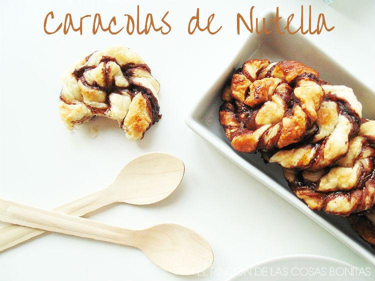 caracolas de hojaldre rellenas de nutella