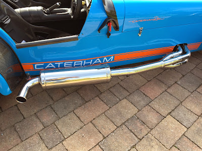 Caterham R500 full polished exhaust system - looking brand new