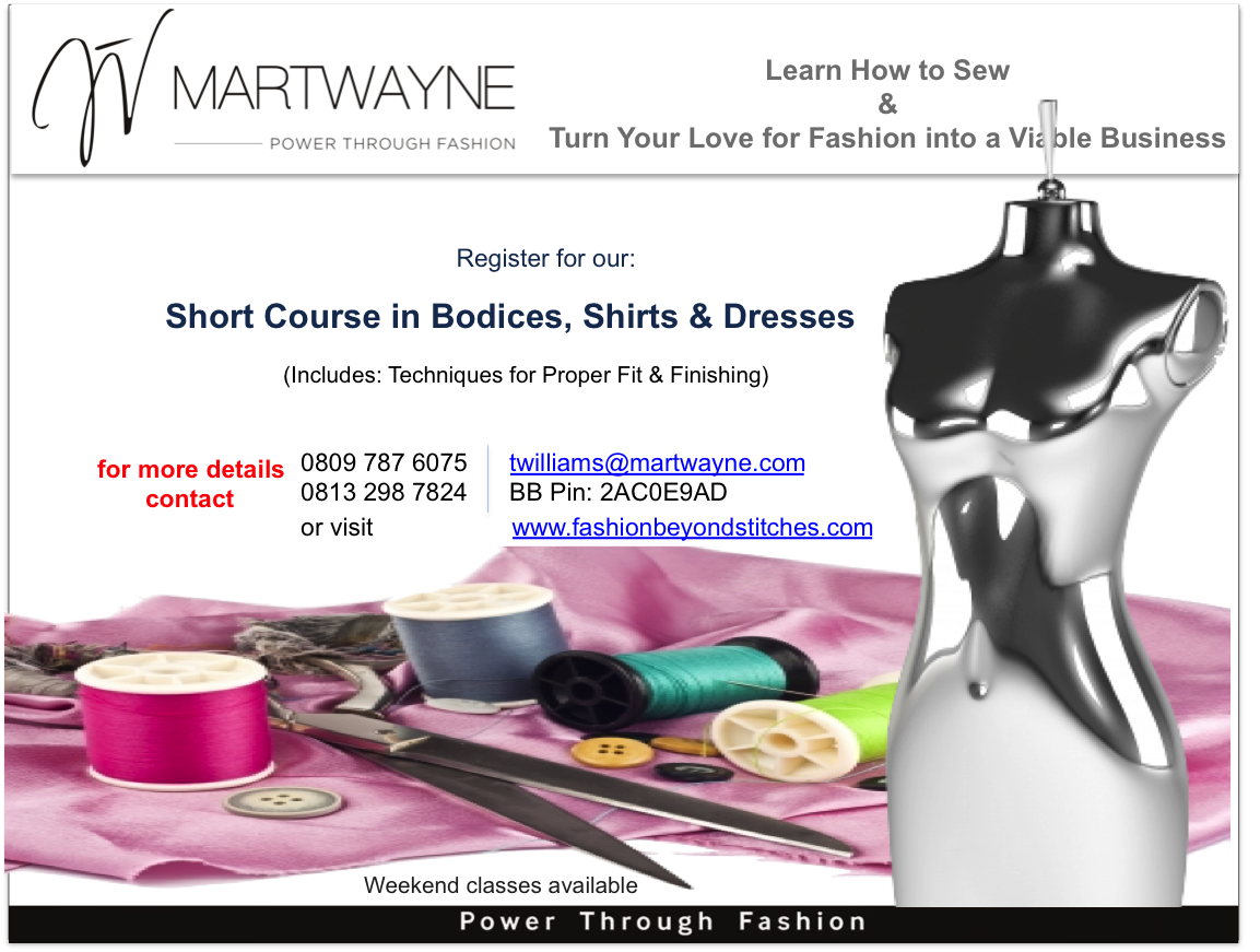 Register for the Short Course in Bodices, Shirts & Dresses.  Start Date: 26 March, 2015