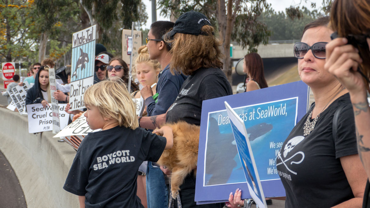 Easter Sunday protest outside Sea World San Diego
