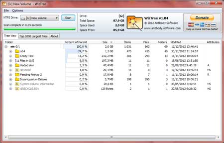 WizTree | Software free disk analizer