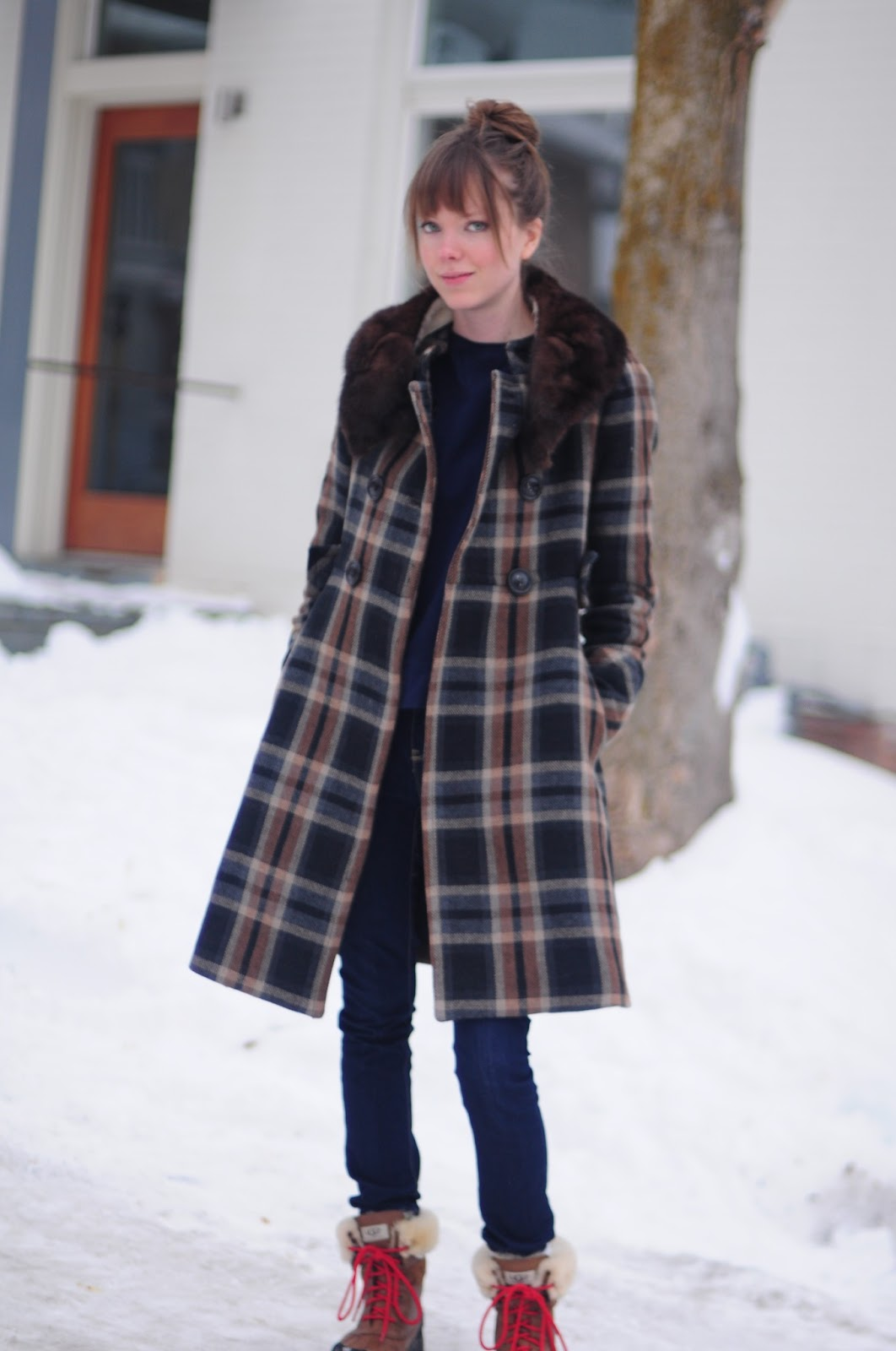 Zara Plaid Coat