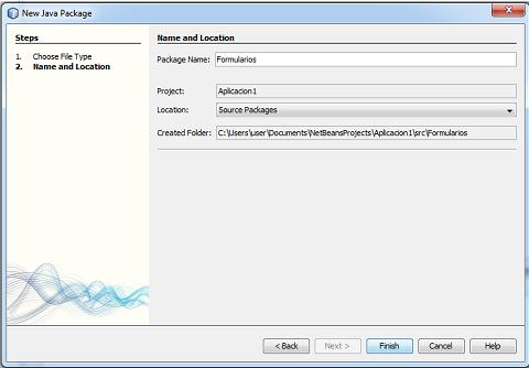 Datos para la creación de un paquete