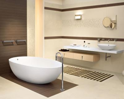 Diseño de baño beige