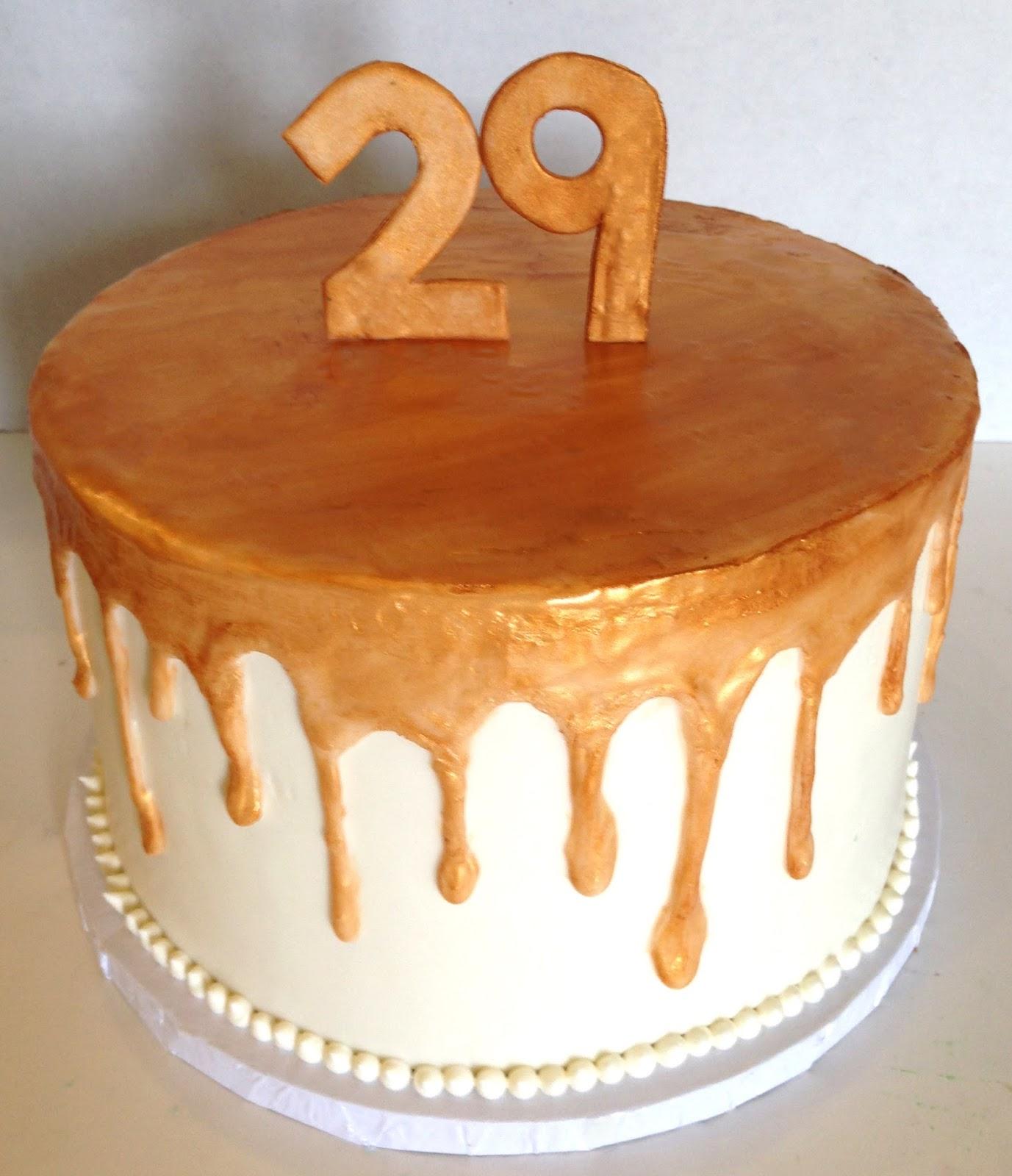 The Cake Market Golden Birthday Cake