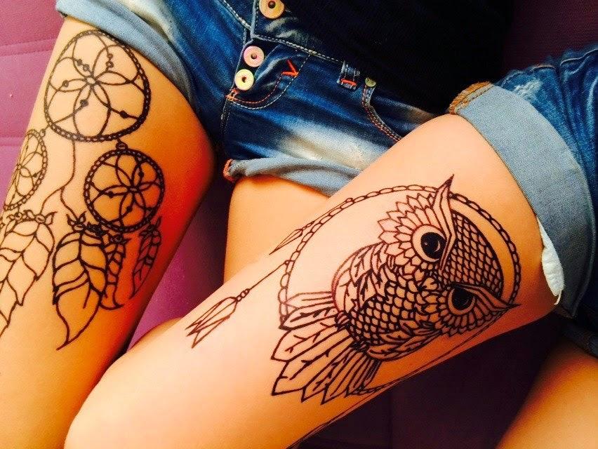 рисунки женских татуировок