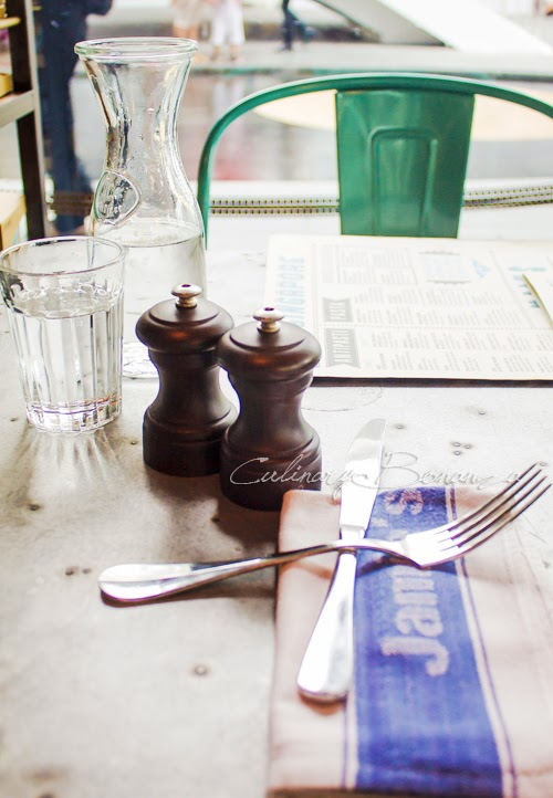 Rustic table setting at Jamie's Italian in Singapore