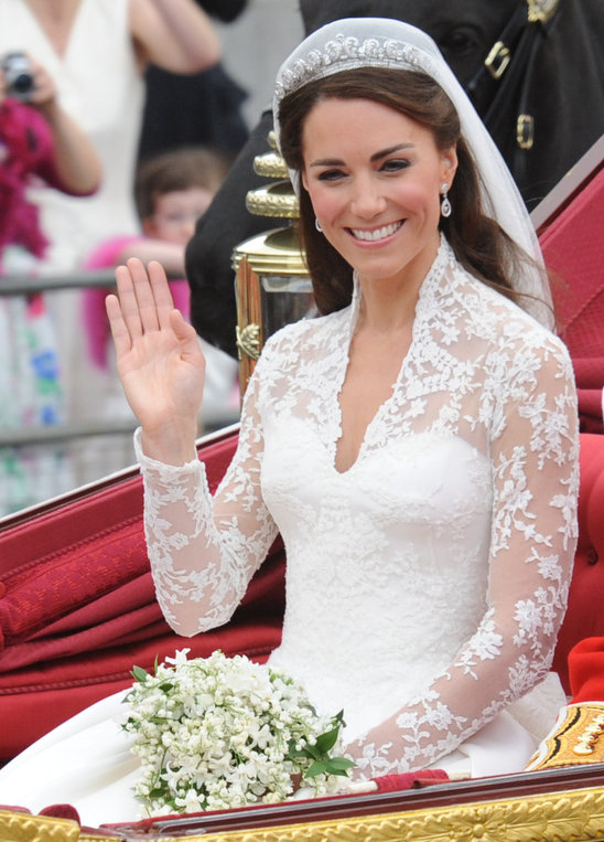 Royal couture william and kate royal wedding kate for Princess catherine wedding dress