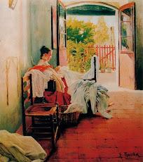 Mujer cosiendo