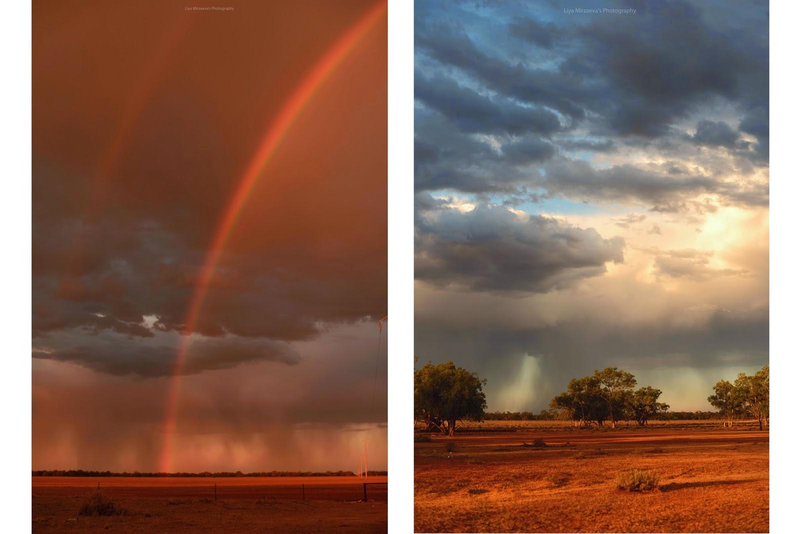 Liya Mirzaeva, art, photography, beautiful, rainbow, sunset, nature, travel, wow, beautiful, amazing, rain, sun, clouds, pink, orange, blue, photographer, traveler, Sydney, Australia, Walgett