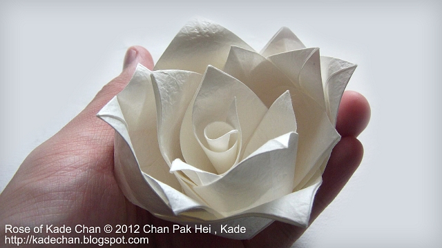 kade chan origami blog 香港摺紙工作室 日誌 rose of kade chan 紙仙玫瑰