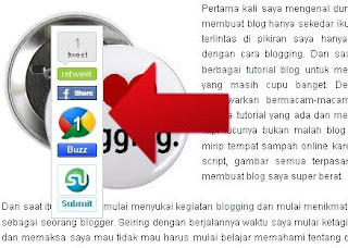 Cara Membuat Floating Share Button Pada Blogger