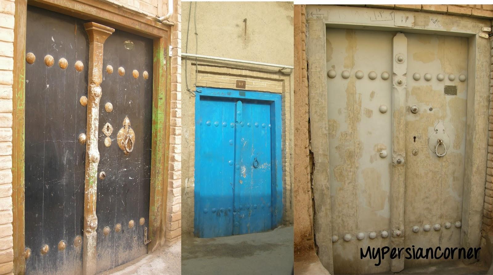 Zoroastrian doors & My Persian Corner: The Zoroastrian Neighborhood of Yazd Pezcame.Com