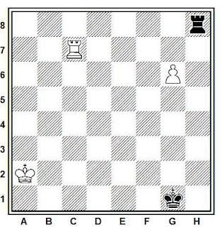 Estudio artístico de ajedrez compuesto por David Gurgenidze (Schachmaty URSS, 1981)