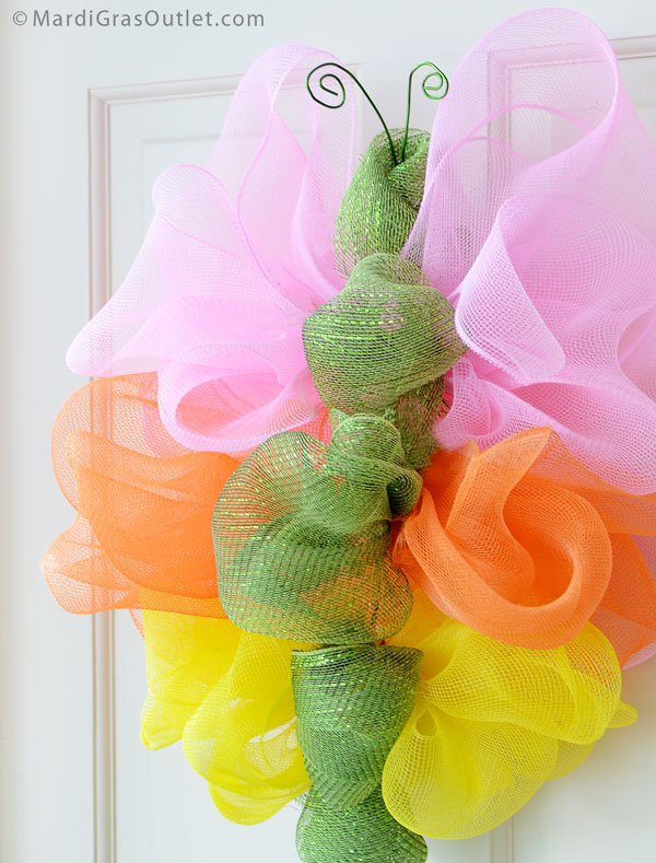 Deco Mesh Butterfly Door Decoration