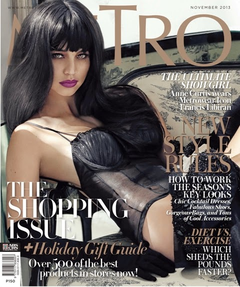 Anne Curtis Covers Metro Magazine November 2013 Issue
