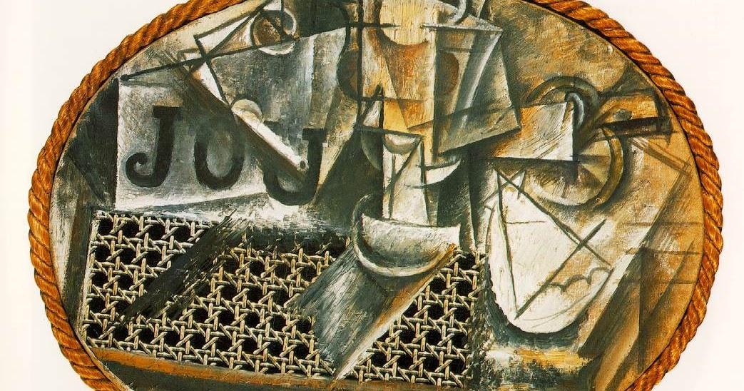Nature morte à la chaise cannée, une peinture de Pablo PICASSO | Le ...