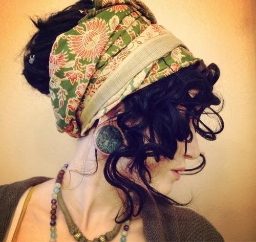 Penteado cabelo cacheado com bandana