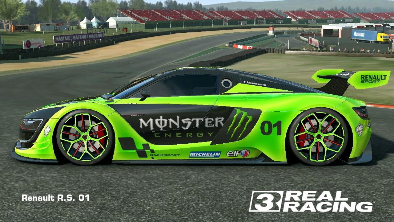real racing 3 mod skin livery vinly 2014 renault sport rs01 skin monster r. Black Bedroom Furniture Sets. Home Design Ideas