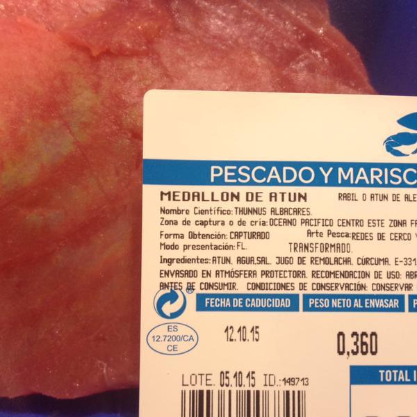 Harto de Carrefour!!: El buen color del atún fresco.