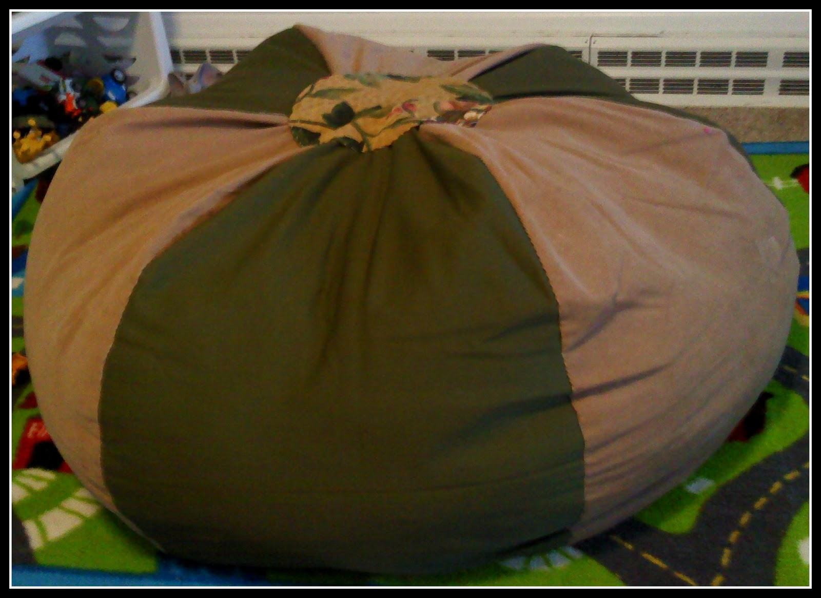 the walnut acre chronicles homemade bean bag chair. Black Bedroom Furniture Sets. Home Design Ideas