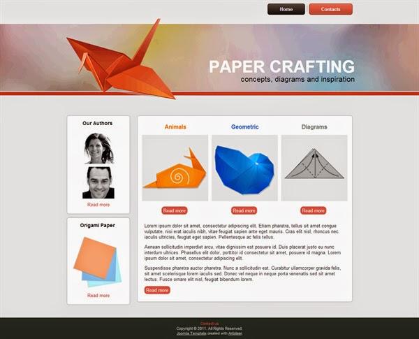 Paper Crafting - Free Joomla! Template