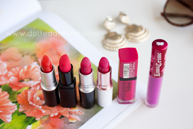 mac so chaud lipsticks bourjois velvetines Mulac