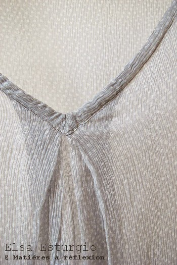 Elsa Esturgie Top soie gris perle